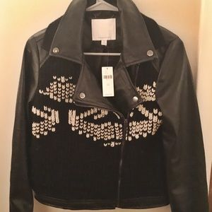 Anthropologie Faux Leather Jacket